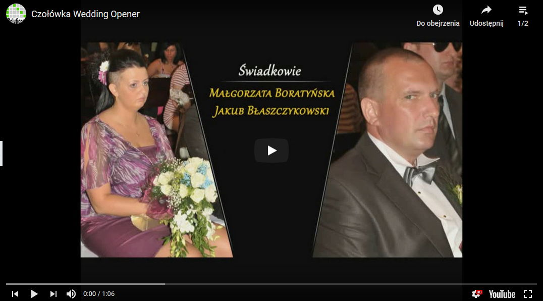 Czołówka-WeddingOpener-Wideofilmowanie